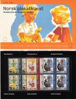 Norway Norge  2003 Norwegian Poster Art,  Mi 1479-1481 X 4 MNH(**) In Souvenir Folder - Ongebruikt