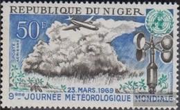 Niger 211 (kompl.Ausg.) Postfrisch 1969 Welttag Meteorologie - Niger (1960-...)
