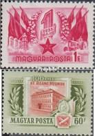 Hongrie 1421,1422 (complète.Edition.) Neuf Avec Gomme Originale 1955 Travailler, Staatsdruckerei - Hungary