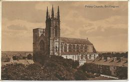 PRIORY CHURCH BRIDLINGTON - YORKSHIRE - With BRIDLINGTON STATION KRAG MACHINE  RAILWAY POSTMARK - England
