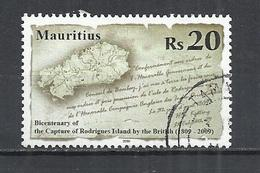 MAURITIUS 2009 - CAPTURE OF RODRIGUES BY THE BRITISH BICENTENARY - USED OBLITERE GESTEMPELT USADO - Mauritius (1968-...)