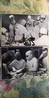 2 Items Lot. USSR. Hospital. Medical Operation. Doctor.Medicine. Old Vintage Original Real Photo 1960s - Métiers