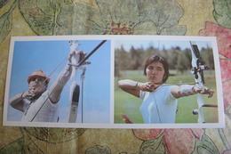 2 Items Lot - Old Postcard And Old Original Photo - ARCHERY - Archer - USSR   -  1970s - Tir à L'Arc