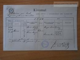 ZA172.1 Old Document - Slovakia  -  Gálszécs  Sečovce (Trebisov- Kosice)  -  1887 - Naissance & Baptême