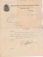 Canada Facture Lettre Illustrée 8/10/1923 The Winnipeg Trustee Company Of Canada - WINNIPEG - Canada