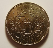 Tunisia 2 Francs 1941 Varnished - Tunisia