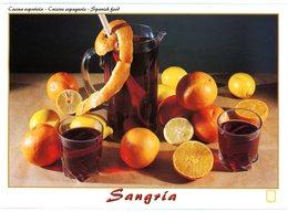 Sangria. Cuisine Espagnole. 1 L. De Vin Rouge, 1 Orange, 1 Citron, 3 Cuillerées De Sucre,1 Bouteille De Soda. Mélanger.. - Recetas De Cocina