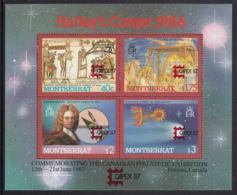 Montserrat 1987 MNH Sc #656 Halley's Comet CAPEX 87 Overprint - Montserrat