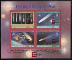 Montserrat 1987 MNH Sc #657 Halley's Comet CAPEX 87 Overprint - Montserrat