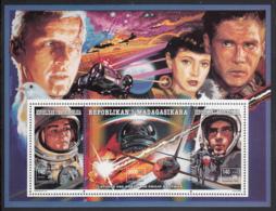 Madagascar 1994 MNH Sc #1245 Sheet Of 3 Astronauts, Blade Runner - Madagascar (1960-...)