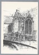 NL.- DELFT. Achterzijde Oude Kerk. Tekening Van Henk Molenaar. - Schone Kunsten