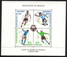 Monaco 1982 MNH Sc #1322 Soccer Players 1982 World Cup - Monaco