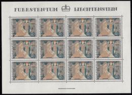 Liechtenstein 1979 MNH Sc #675 20rp Annunciation Embroidery Christmas Sheet Of 12 - Blocs & Feuillets