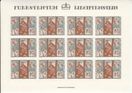 Liechtenstein 1979 MNH Sc #676 50rp Embroidery Christmas Sheet Of 12 - Blocs & Feuillets