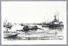 NL.- Nieuwe Maas. Vrachtschepen. - Schone Kunsten