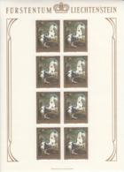 Liechtenstein 1978 MNH Sc #660 70rp Piebald (horse) By Hamilton And Faistenberger Sheet Of 8 - Blocs & Feuillets