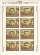 Liechtenstein 1978 MNH Sc #662 1.10fr Golden Carriage Of Prince Joseph Wenzel By Martin Von Meytens Sheet Of 8 - Blocs & Feuillets