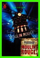 AFFICHE DE CINÉMA - MOULIN ROUGE ! - 20th CENTURY FOX, 2001 - GO-CARD - - Affiches Sur Carte