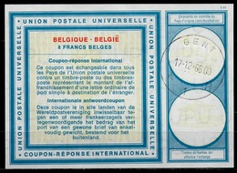 BELGIQUE / BELGIE Type XIX 8 FRANCS BELGES International Reply Coupon Reponse IAS IRC Antwortschein O GENT 17.12.68 - Ganzsachen