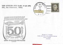 MC MURDO    Pole Sud   50 ANNIVERSAIRE 1929-1979 Usns Schuyler Otis Bland 7 Septembre 1979 - Ross Dependency (New Zealand)