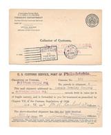 USA Penalty Card 1926 US Treasury Department Customs Pittsburgh Philadelphia PA Norman Jewelry - Postal History