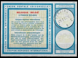 BELGIQUE / BELGIE Type XIX 8 FRANCS BELGES Intern. Reply Coupon Reponse IAS IRC Antwortschein O SERAING 29.9.69 - Ganzsachen