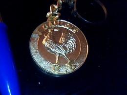 Porte Clefs Ancien Publicitaire Metallique  Theme Fabricant De Voitures Miniatures   LE GAULOIS Beuzen  & Sordet Paris - Key-rings