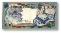 1000 Escudos - Ch. 10 - 19/05/1967 - P 172 - Sign. 15 - Serie NKJ - 6 Digit Serial # - Used - D. Maria II - PORTUGAL - Portugal