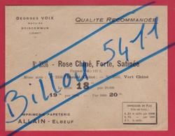 Enveloppe Pub : Notaire Georges VOIX à BOICOMMUN (Loiret) / Imprimerie; Papeterie : ALLAIN-Elbeuf - Publicités