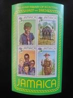 W)1907 JAMAICA,EXHIBITOR'S REMINDER SHEET MNH - Jamaica (1962-...)
