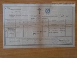 ZA172.4 Old Document -  Slovakia   Vilke - Veľká Nad Ipľom  Susanna MEGYERI - 1886 - Birth & Baptism