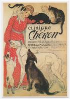 CLINIQUE CHERON. 8 Rue Des Moulins. Paris. Médecin Vétérinaire Spécialiste. Chats.Chiens. - Publicité
