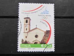 *ITALIA* USATI 2004 - 1^ EMISS TORINO 2006 - SASSONE 2742 - LUSSO/FIOR DI STAMPA - 6. 1946-.. Repubblica