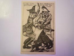 """2019  (133)  Illustrateur P. REMY  1940  :  Carte Humoristique  """"Qu'as-tu Fais STALINE !! """"   - Guerre 1939-45"""
