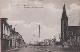 Zelzate Selzaete De Grote Groote Markt En De Kerk  La Grand Place Et L' Eglise (In Zeer Goede Staat) ZELDZAAM - Zelzate