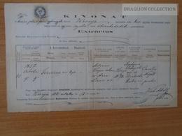 ZA172.5 Old Document -  Hungary - KÖRNYE  -Tata Tatabánya - 1881 - Naissance & Baptême