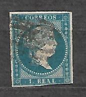 #102# SPAIN, ESPAÑA EDIFIL 49 USADO, USED. - 1850-68 Kingdom: Isabella II
