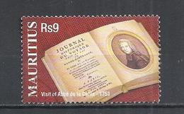 MAURITIUS 2003 - VISIT OF ABBE' DE LA CALLE ANNIVERSARY  -  USED OBLITERE GESTEMPELT USADO - Mauritius (1968-...)