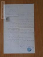 ZA172.6 Old Document - BUDAMÉR - Budimír -(Kosice) - Josephus BORZAY -- 1882 - Francisco KNAPIL - Naissance & Baptême