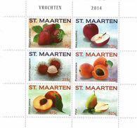 2014 St. Maarten Fruits  Miniature Sheet Of 6 MNH @ BELOW FACE VALUE - Curacao, Netherlands Antilles, Aruba