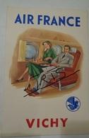 CPAC72 - PUBLICITE AIR FRANCE VICHY - Publicités