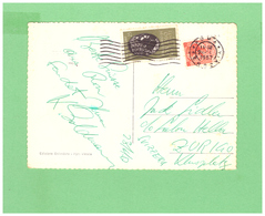 1957 VIAGGIATA X LA SVIZZERA AFFRANCATURA DI 2 DIV. FRANCOBOLLI - 6. 1946-.. Repubblica