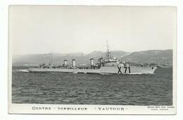 CPSM - Marine De Guerre Contre Torpilleur Vautour - Marius Bar Toulon - 9/14 Cm - Guerre