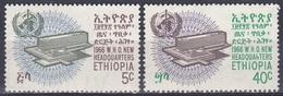 Äthiopien Ethiopia 1966 Organisationen UNO ONU WHO Weltgesundheitsorganisation Gesundheit Health, Mi. 547-8 ** - Äthiopien