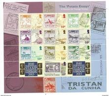 2015 Tristan Da Cunha Stamps On Stamps Penguins Complete Sheet Of 10  MNH @ FACE - Tristan Da Cunha