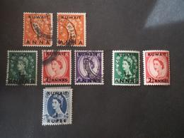 KUWAIT 1952 -1954 Queen Elizabeth II - Great Britain Postage Stamps Of 1952-1954 Surcharged S الكويت - Kuwait