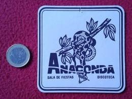 SPAIN ? POSAVASOS RARE COASTER MAT ANACONDA SALA DE FIESTAS DISCOTECA DISCO BOITE IMAGEN ANIMAL SERPIENTE SNAKE VER FOTO - Portavasos