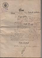 Acte Notarié F.W. Helck SAINTE MARIE AUX MINES, Markirch - Documents Historiques