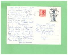 1954 AFFRANCATURA CON DUE DIV. FRANCOBOLLI VIAGGIATA X LA SVIZZERA - 1946-.. République