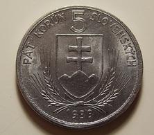 Slovakia 5 Korun 1939 Varnished - Slovaquie